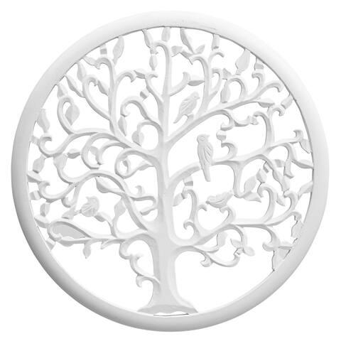 Solaris Thirty-three White Tree of Life Wall Art