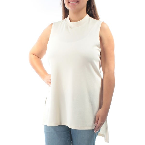 e07d82011dbb7 Shop ALFANI Womens Ivory Textured Sleeveless Crew Neck Top Size  XL - Free  Shipping On Orders Over  45 - Overstock.com - 21301655