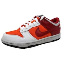 Nike Women's Dunk Low White/Varsity Red-Orange Blaze 309324-169
