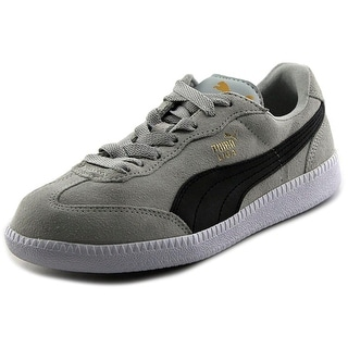 Puma Liga Men Round Toe Suede Gray Sneakers