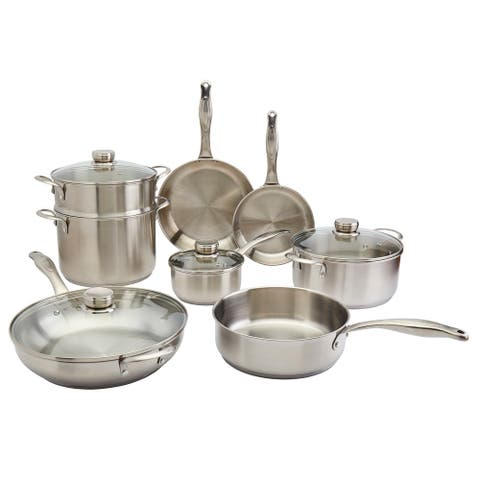 Frigidaire 12PC Stainless Steel Cookware Set