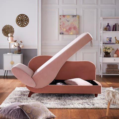 Aideen Two-Tone Dark & Light Functional Chaise iNSPIRE Q Modern