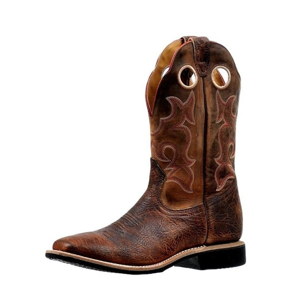Boulet Western Boots Mens Extralight Wide Square Bison Bomber