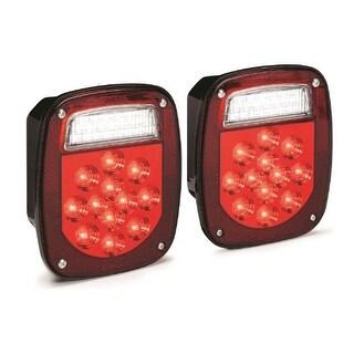 KC HiLiTES 1001 LED Rectangular Red Jeep & Trailer Tail Ligh