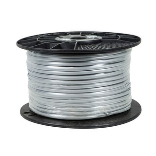 Monoprice 1000ft 6 Conductor 28AWG Stranded Bulk Phone Cable - Silver