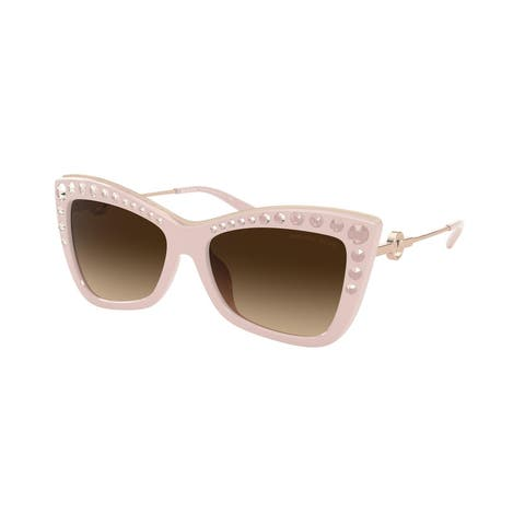 Michael Kors MK2128BU 335013 55 Shell Pink Woman Cat Eye Sunglasses