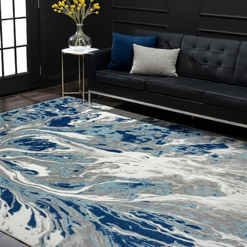 Alise Rugs Eternal Contemporary Abstract Area Rug