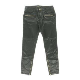 Zara Womens Faux Leather Slim Fit Casual Pants