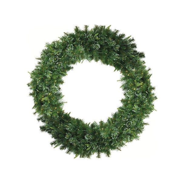 5' Pre-Lit Cashmere Mixed Pine Commerical Artificial Christmas Wreath - Warm White LED Lights