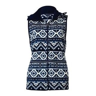 American Living Women's Printed Pocket Fleece Zip Vest (5 options available)