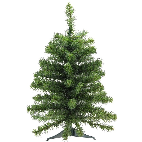 """2' x 16"""" Natural Two-Tone Pine Artificial Christmas Tree - Unlit"""