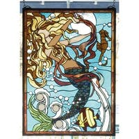Meyda Tiffany 78086 Stained Glass Tiffany Window from the Seashore Collection - n/a