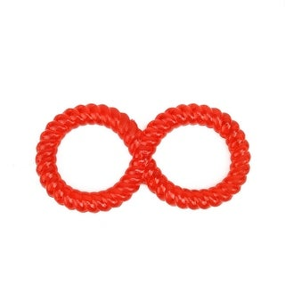 Harlequin Red TPR Rubber Spiraled Ring Non-Toxic Puppy Dog Chew Toy