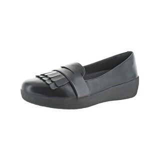 Fitflop Womens Fringey Sneakerloafer Penny Loafers Fringe Slip-On