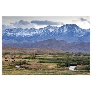 """The Eastern Sierra Nevada mountains, California"" Poster Print"