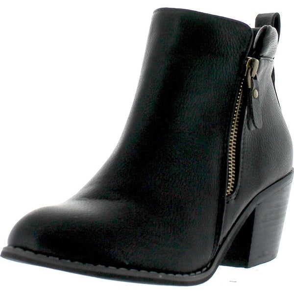 Reneeze Polo-01 Womens Fashionable Stacked Heels Ankle Booties