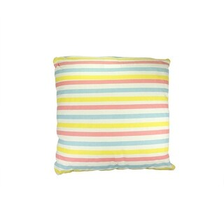 "15.75"" Capri Boulevard Pink, Yellow and Blue Striped Throw Pillow"