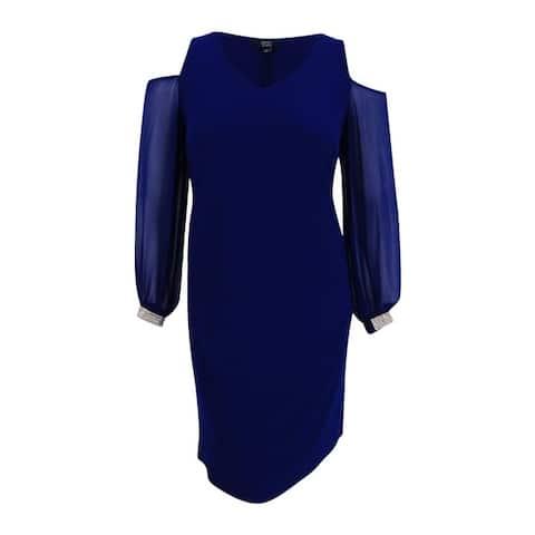 Msk Women's Plus Size Cold-Shoulder Shift Dress