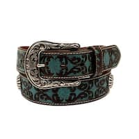 Ariat Western Belt Womens Scrolling Pattern Leather Conchos