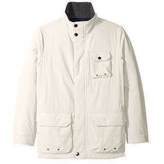 Nautica NEW White Ivory Multi-Pocket Mens Size XL Full-Zip Parka Coat