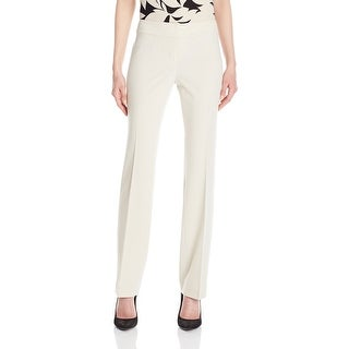 Nine West NEW White Women Size 6X33 Straight Leg Flat Front Dress Pants