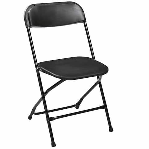 5 Plastic Stackable Commercial Wedding Party Folding Chair