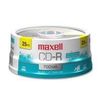 Maxell CD-R, 700mb, 80 min, Branded, 25pk Spindle