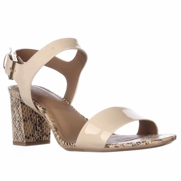Calvin Klein Cimi Ankle Strap Dress Sandals, Sandstorm - 9.5 us