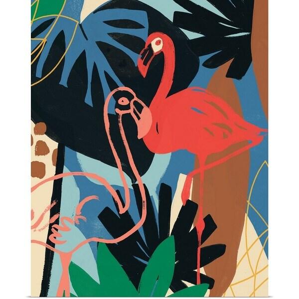 """Funky Flamingo II"" Poster Print"