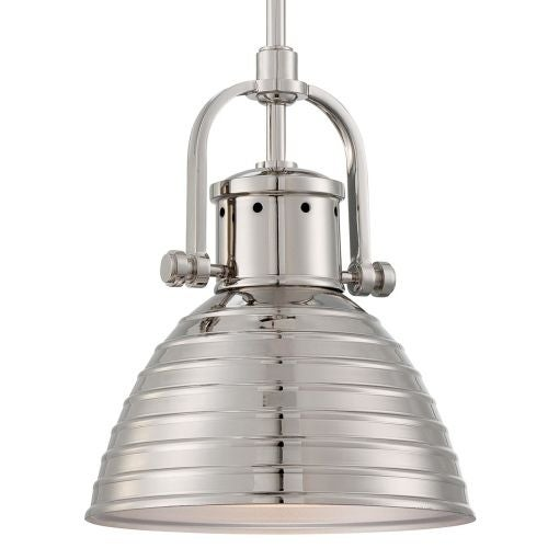 "Minka Lavery 2246-613 1 Light 11"" Height Indoor Mini Pendant in Polished Nickel"