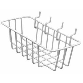 "Crawford WB85 Peggable Wire Basket, 3.5"" x 8"" x 2.5"", Vinyl Coated"