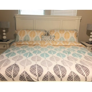 Carson Carrington Stockholm Yellow/Aqua Comforter and Cotton Sheet Set