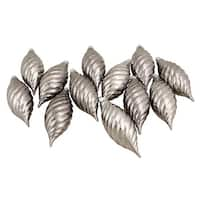 Club Pack of 12 Gunmetal Gray Shatterproof Finial Christmas Ornaments 4.75""