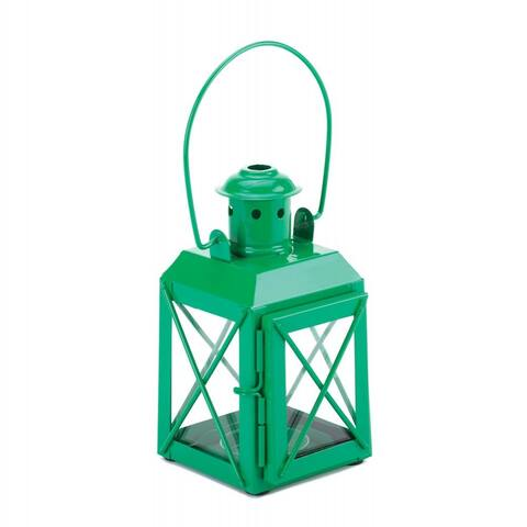 One Green and One Purple Trolley Candle Lantern
