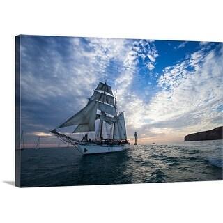 """Tall ship the Pacific Ocean, Dana Point Harbor, Dana Point, Orange County, California"" Canvas Wall Art"