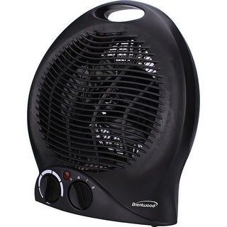 Brentwood H-F301bk 1500-Watt Portable Electric Space Heater And Fan - Black