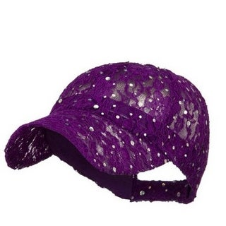 Sequin Lace Glitter Adjustable Baseball Cap (More options available)