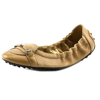 Tod's Ballerina Dee Doppia T Micro Pelle Round Toe Leather Flats