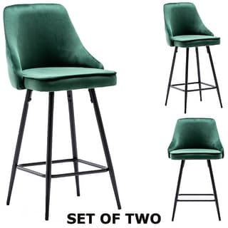 Link to Zainab Premium Velvet Upholstered Contemporary Dining Bar Stools (Set of 2 ) Similar Items in Dining Room & Bar Furniture