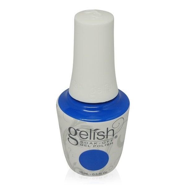Gelish Soak-Off Gel Polish Electric Blue Frost-Ocean Wave