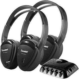 """""""PowerAcoustic POWHP22IRTB 2 Swivel Ear Pad Single Channel Infrared Wireless Headphones with Transmitter"""""""