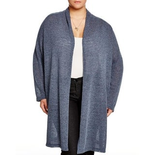 Nally & Millie Womens Plus Cardigan Sweater Open Front Drapey