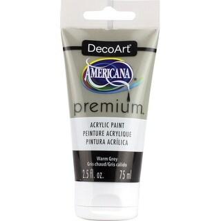 Americana Premium Acrylic Paint Tube 2.5Oz-Warm Grey