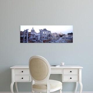 Easy Art Prints Panoramic Images's 'Roman Forum Rome Italy' Premium Canvas Art