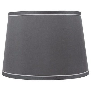 Link to French Drum With White Trim Lampshade, 10 inch Top, 12 inch Bottom, 8.5 inch Slant Similar Items in Lamp Shades