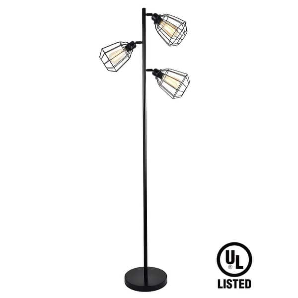 Industrial Style 3 Head 65inch Track Tree Floor Lamp On Sale Overstock 16966534