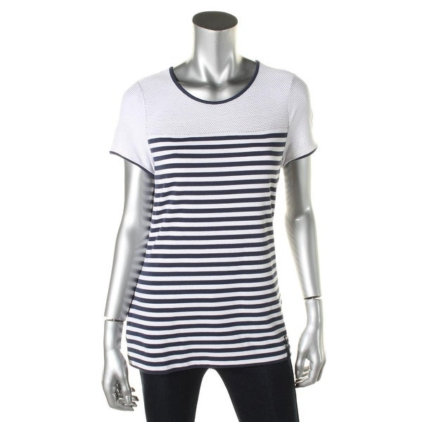 eb76ddd8a032f2 Shop L-RL Lauren Active Womens T-Shirt Knit Striped - Free Shipping On  Orders Over  45 - Overstock - 13087739