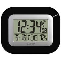 La Crosse Technology WT-8005U-B Digital Atomic Wall Clock, Black