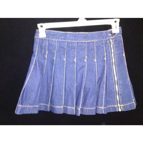 28c14b9157 Shop Place 1989 girls SKORT youth 14 denim skirt w shorts cotton pleats -  Free Shipping On Orders Over $45 - Overstock - 23169673