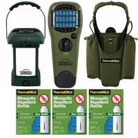 ThermaCELL Mosquito Repellent Outdoor Lantern w/ Appliance & Accessories - Green
